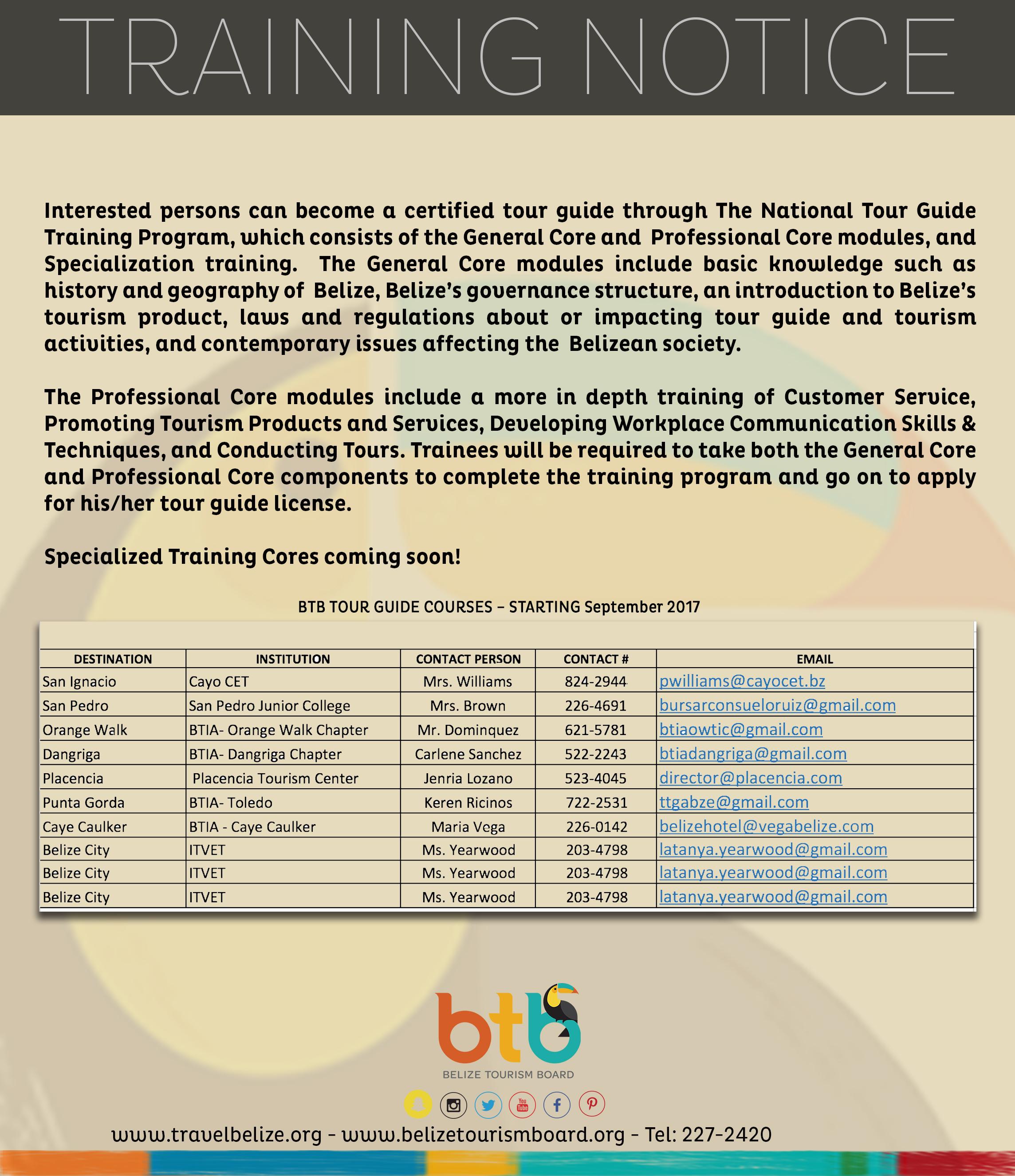 Belize Tour Guide Training